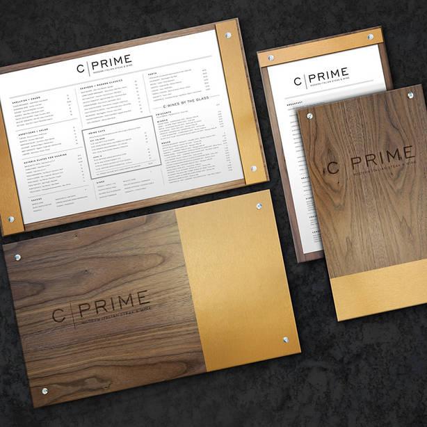 C-Prime - Logo and Menus