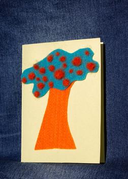 Käsin tehty kortti