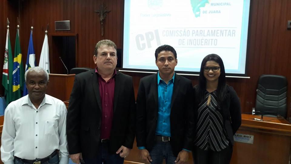 Vereadores da Comissão Parlamentar de Inquerito Concluido na Câmara de Juara
