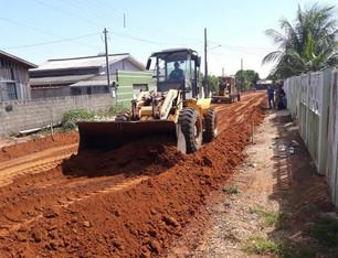 Em Porto dos Gaúchos Obras de Asfaltamento no Bairro Jardim Amazonas é Iniciada.