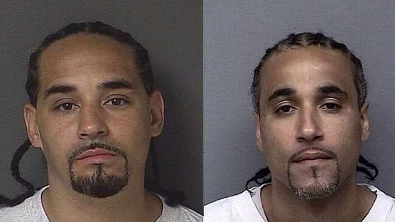 © Kansas City Police Department Richard Anthony Jones (à dir.) passou 17 anos na cadeia e sempre se disse inocente da acusação de roubo. Ele foi solto depois que descobriu ter um 'sósia', Ricky, que poderia ter cometido o crime