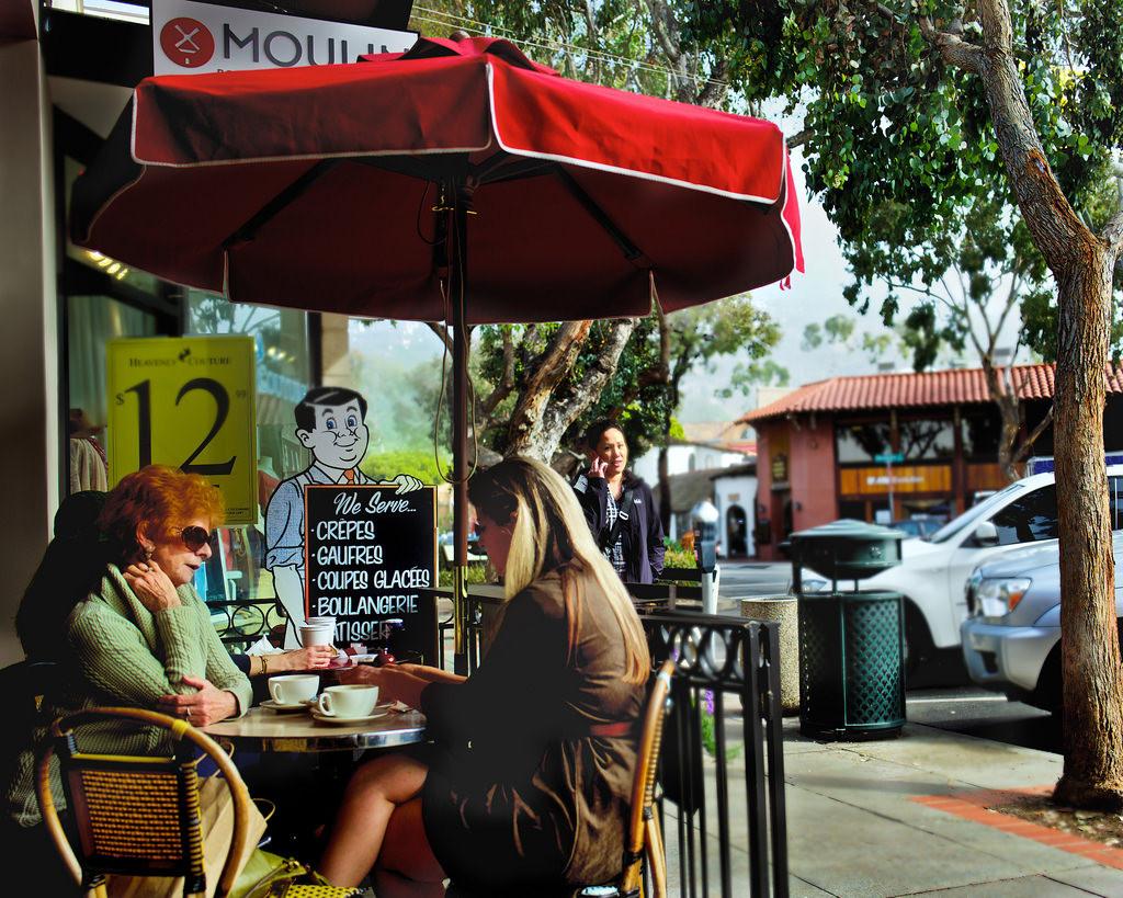 Sidewalk Cafes Downtown - 1 mile