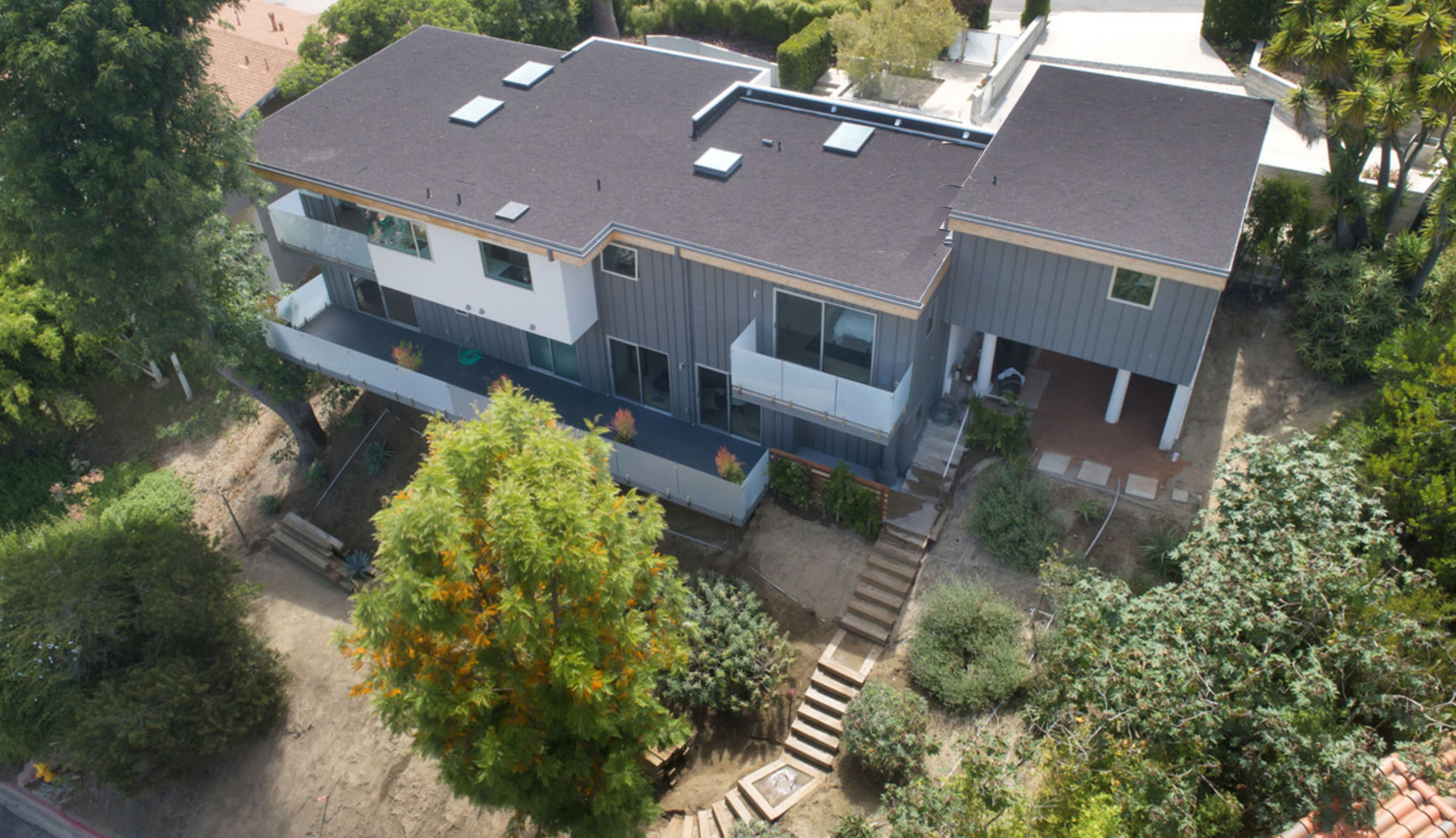 Aerial view from the rear.