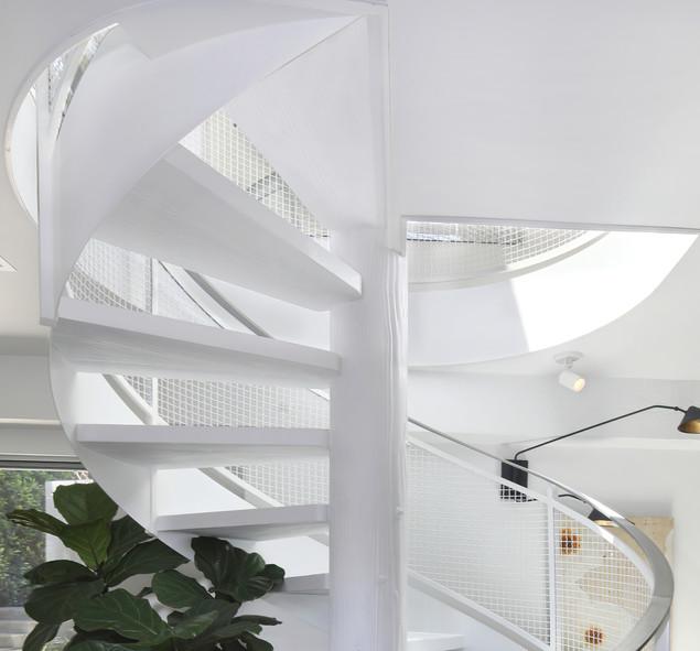 Custom Modern Spiral Stair