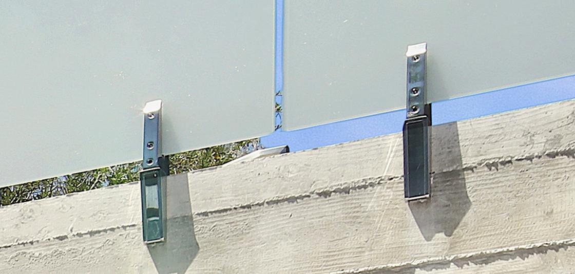 Custom Glass & Steel Deck Hardware
