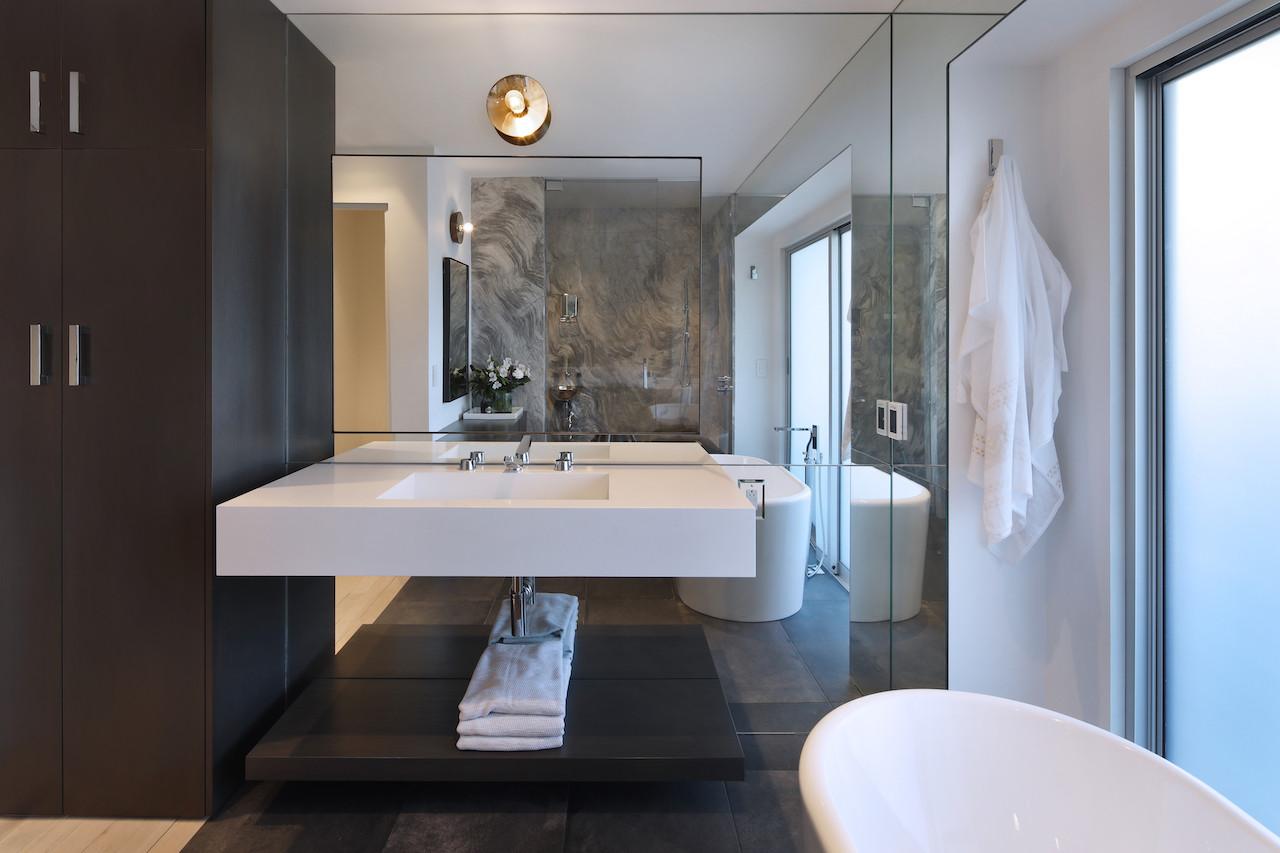 Downstairs master bath.