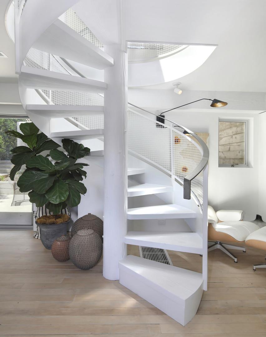 Designer spiral stair.