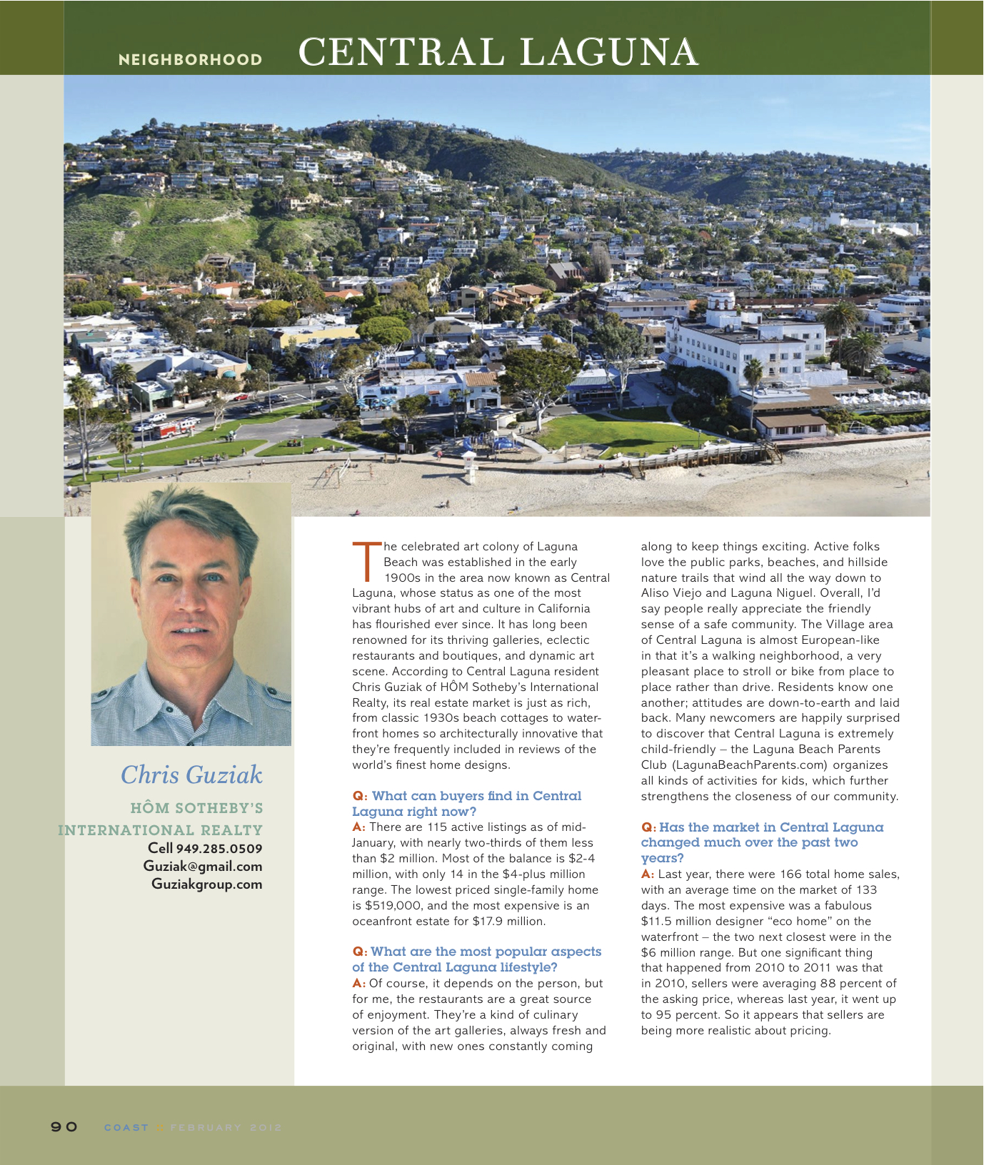 Coast Magazine Central Laguna Expert