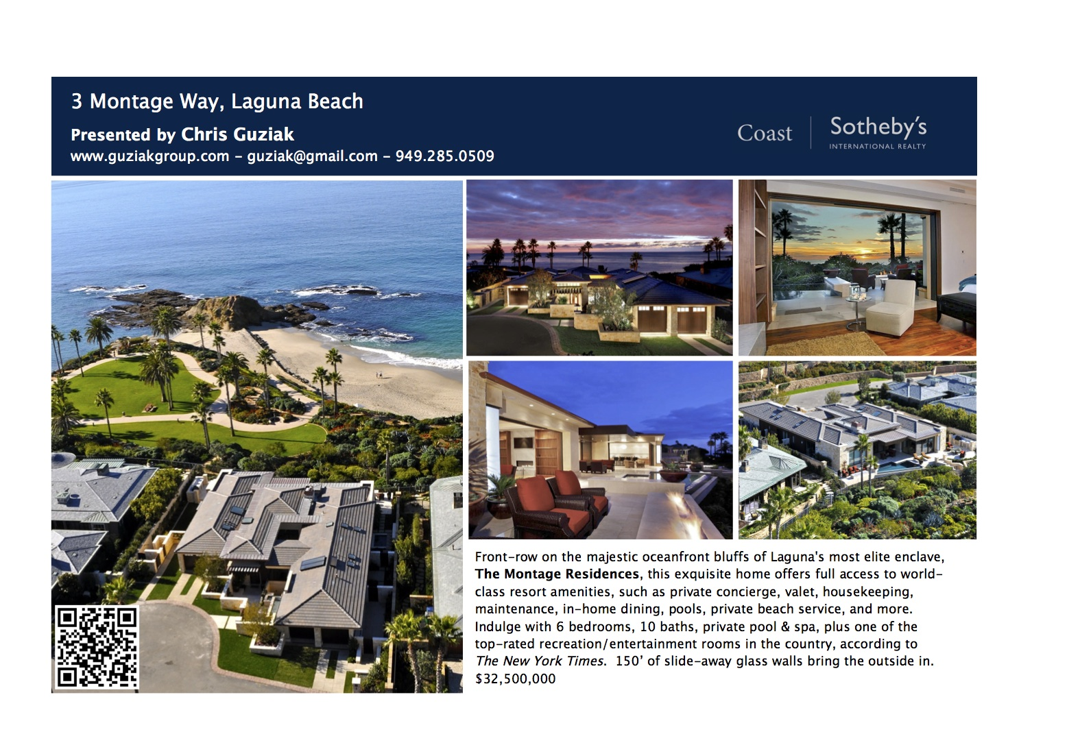 Sample ad for $32M Montage home