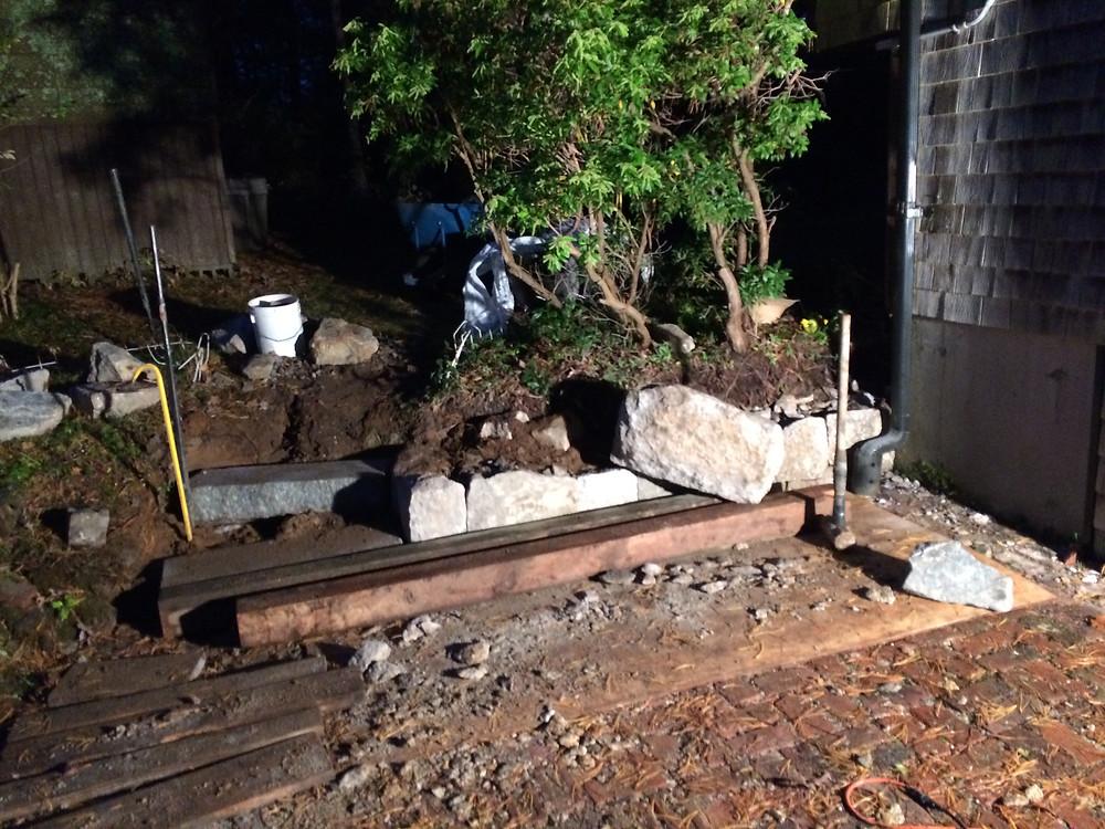 Cape Cod Stoneworks Retaining Wall Construction