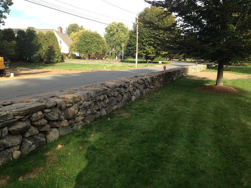 Fieldstone Fence Wall