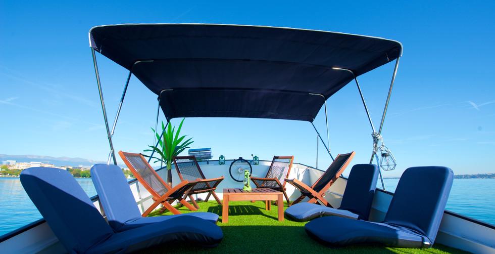 Homeboat terrasse