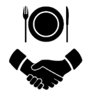 lunch-handshake-vector-icon-260nw-110051