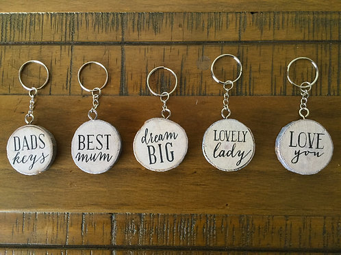 Birch key rings