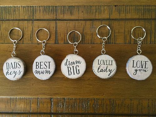 Birch key rings