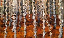 "Autumn Birch, acrylic on panel, 60"" x 36"""