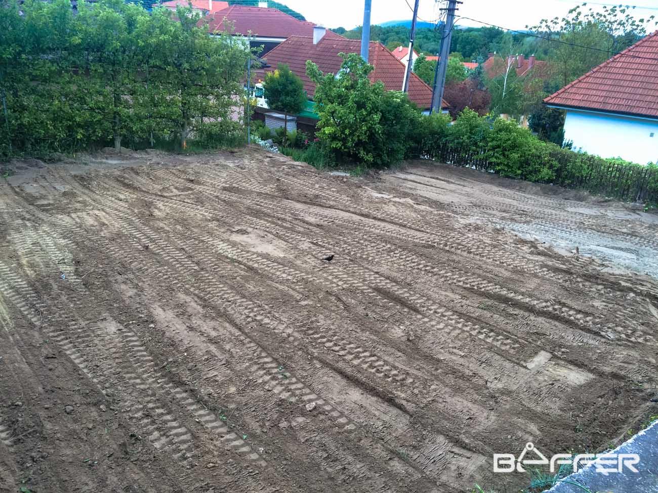 úprava pozemku po búraní domu, Devín