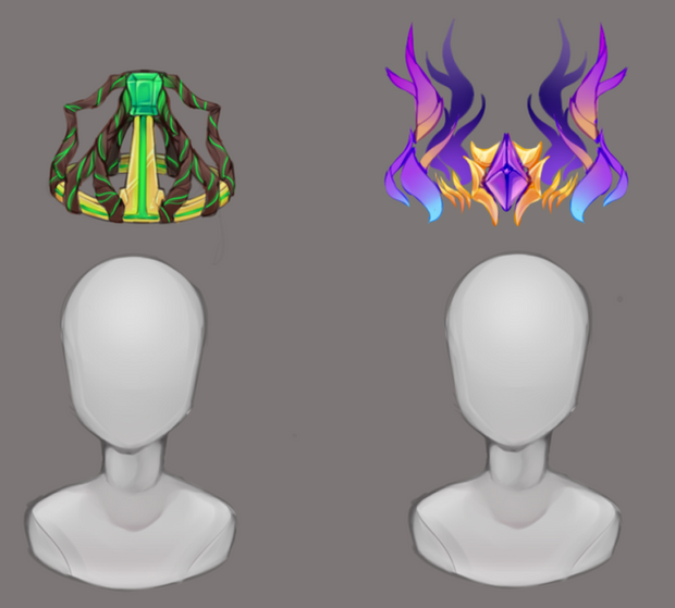 Fey and Wren's Initial Crown Concepts