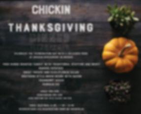 thanksgiving dinner a Chickin restaurant