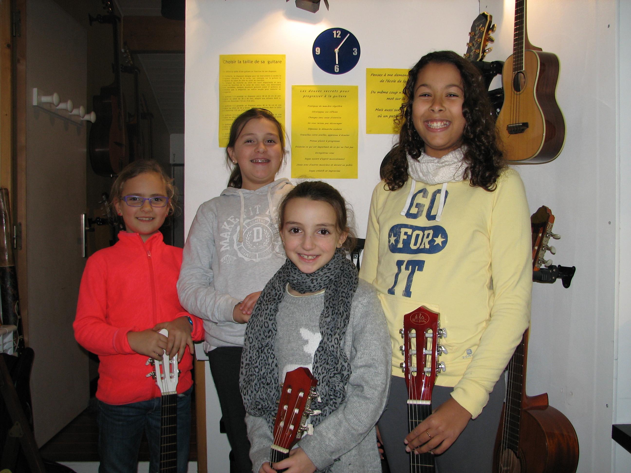 Gabrielle, Margaux, Camille et Loréa