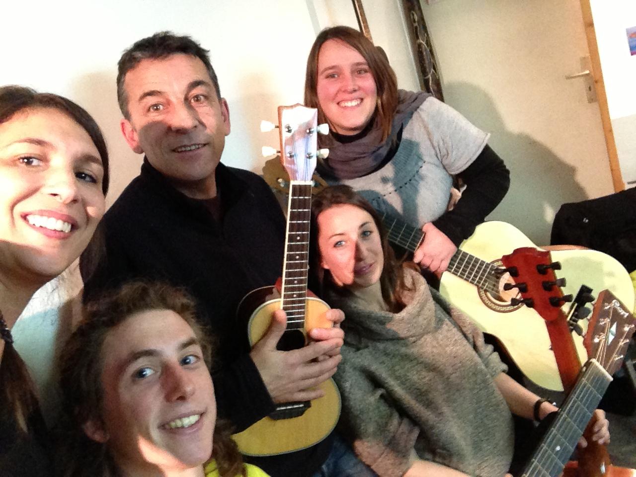 Céline, Geoffroy, Julie et Mélanie.