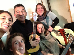 Céline, Geoffroy, Julie et Mélanie
