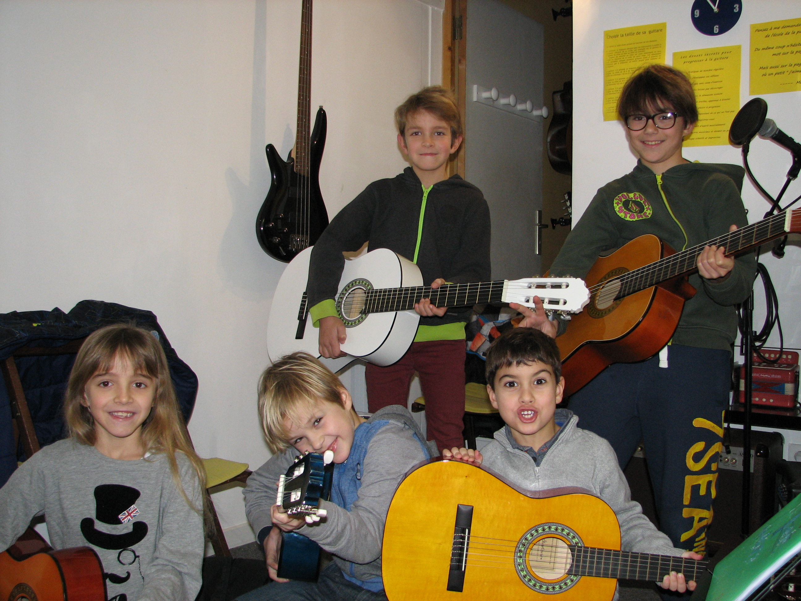 Alaia, Léo, Oihan, Benjamin et Oscar
