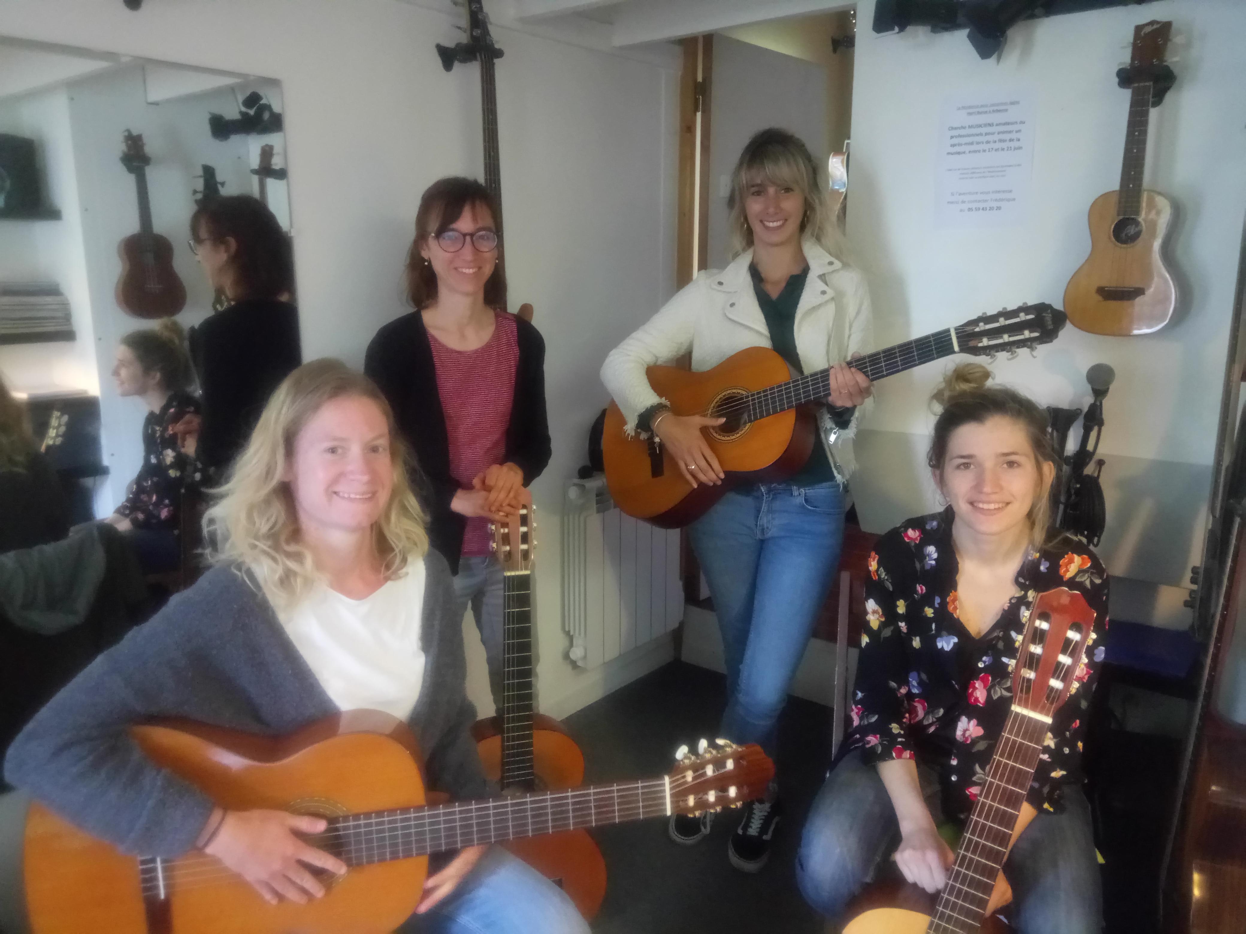 Eva, Julie, Jeanne et Laure