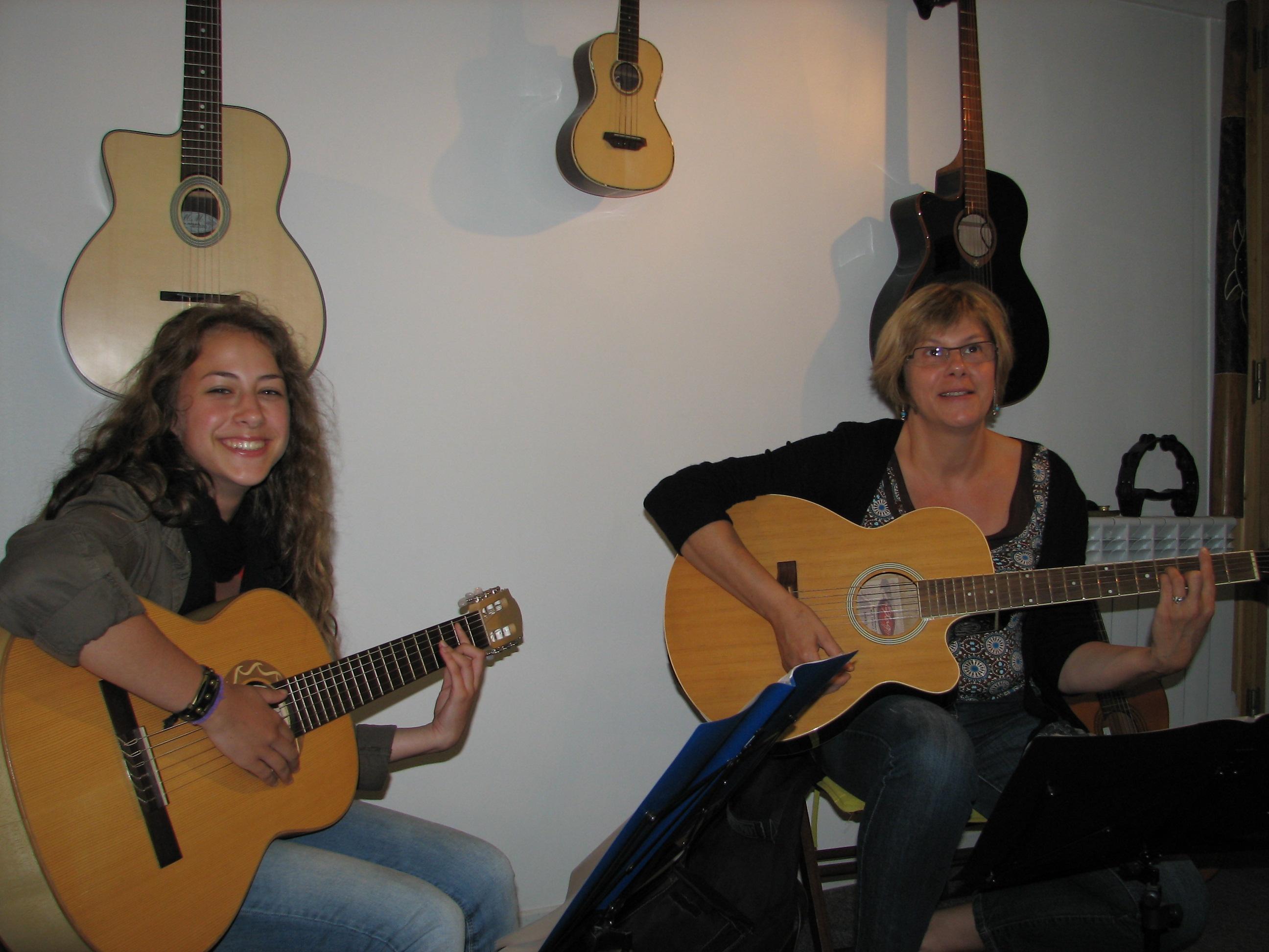 Chloé et Martine.