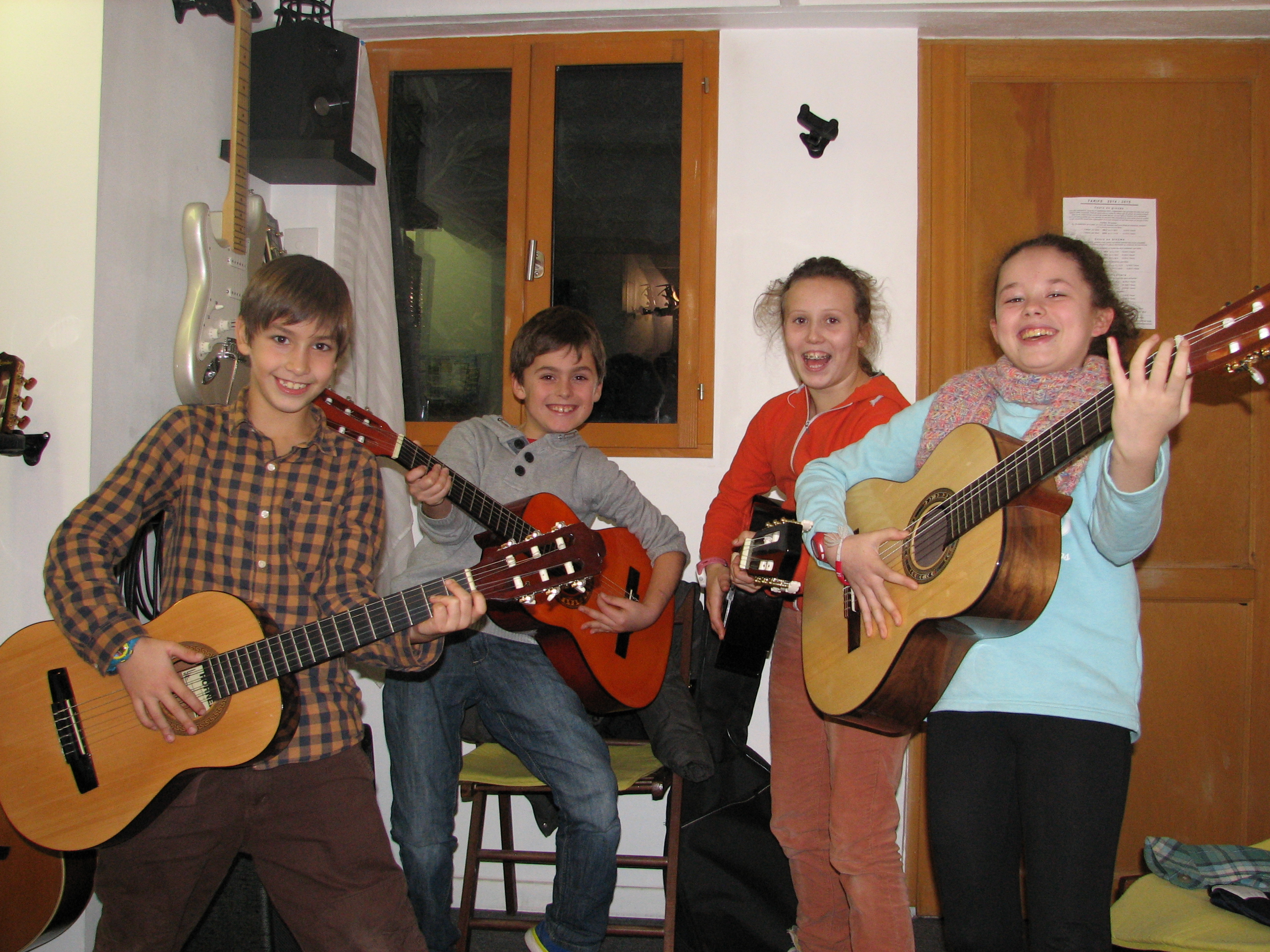Marin, Iban, Maylis et Lou.