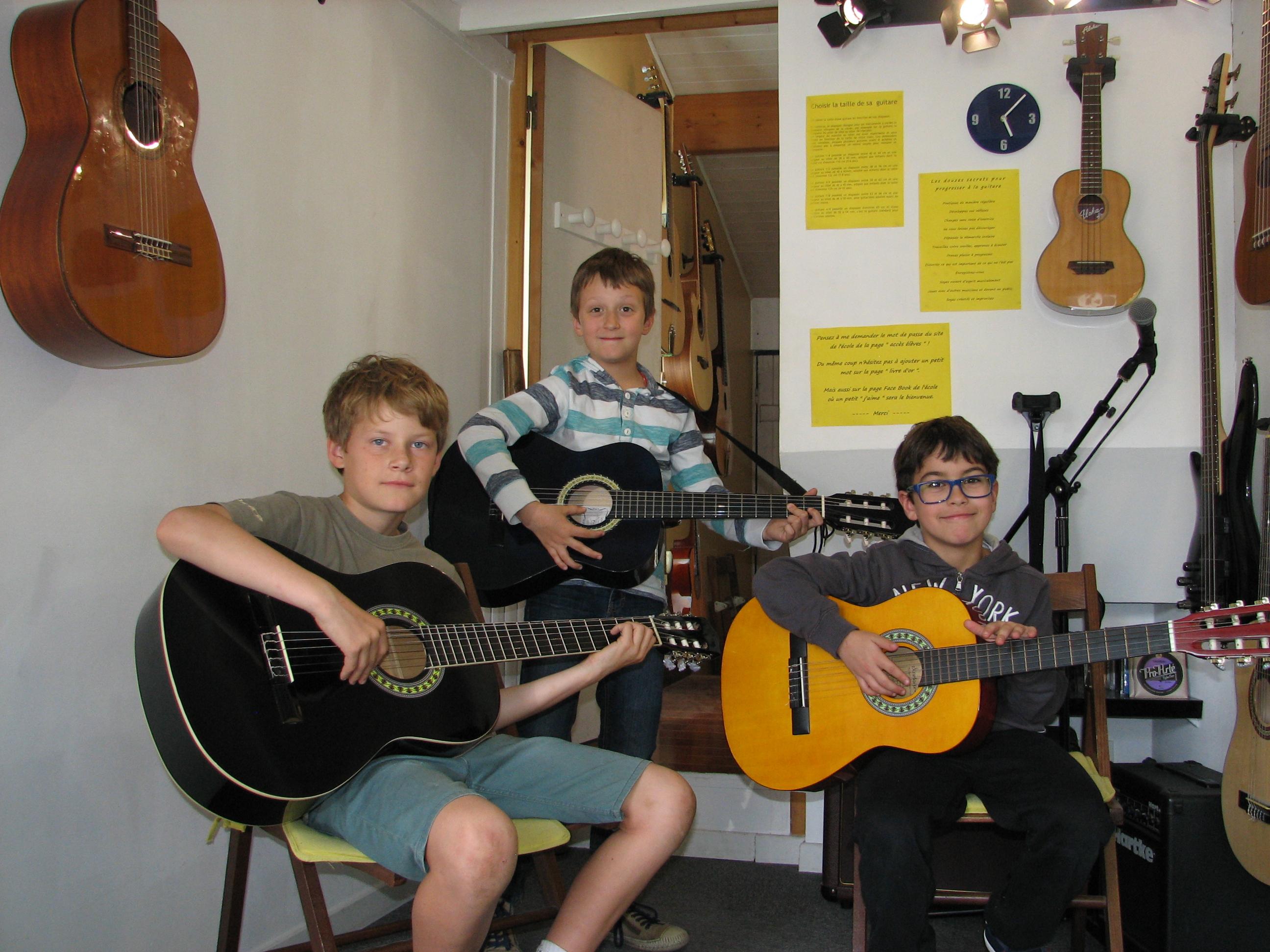 Robin, Benjamin et Benjamin.