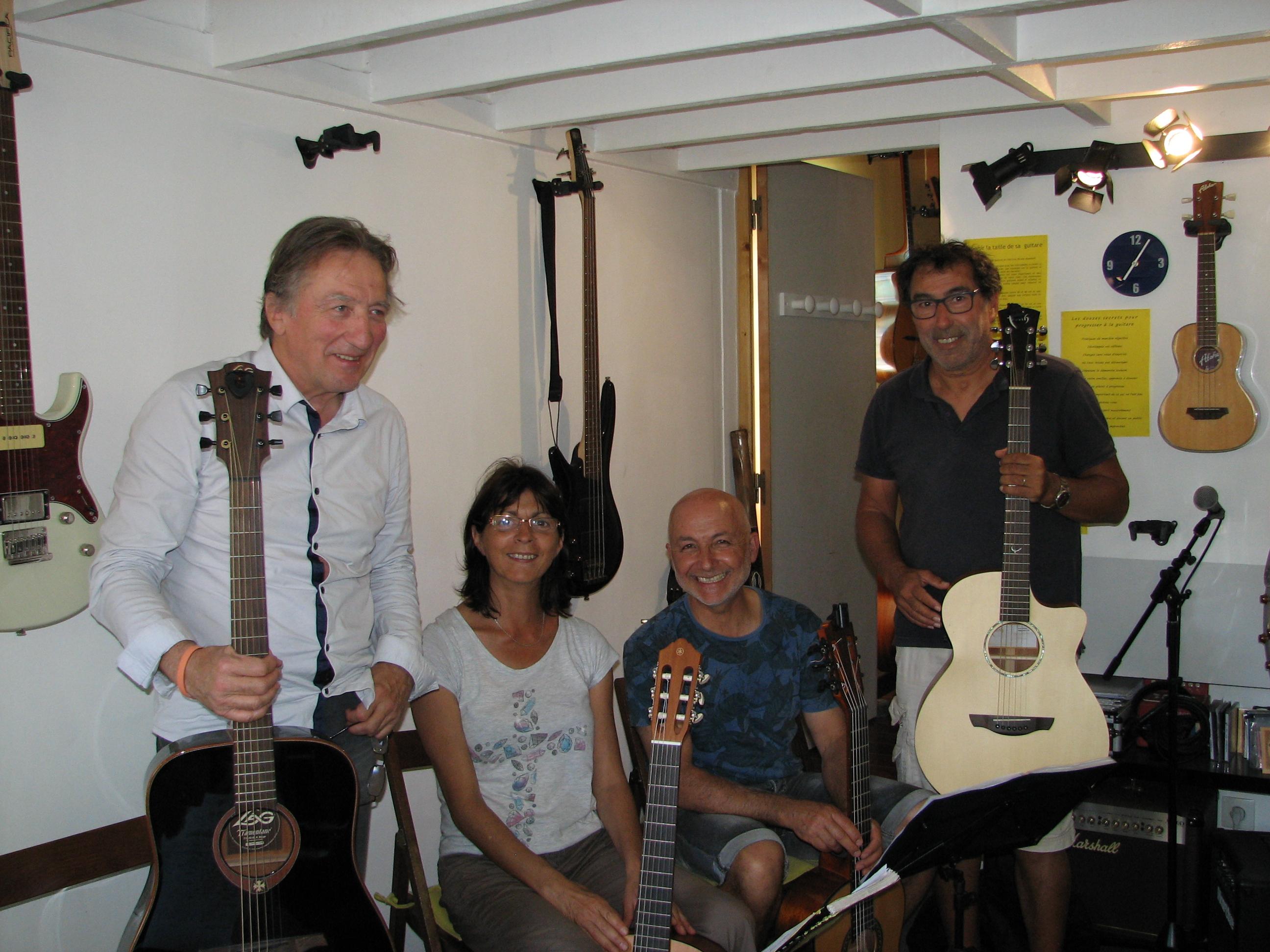 Jean, Christiane, Albi et Aadel.