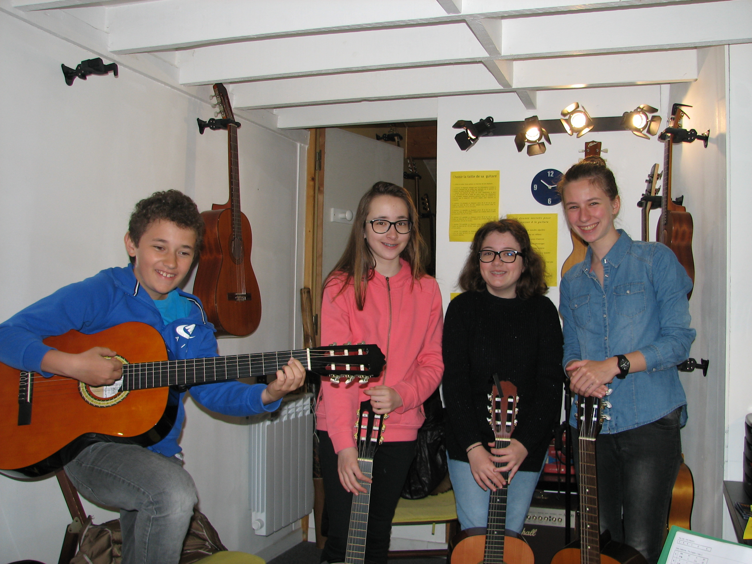 Alexandru, Eliza, Donia-Marie et Audrey