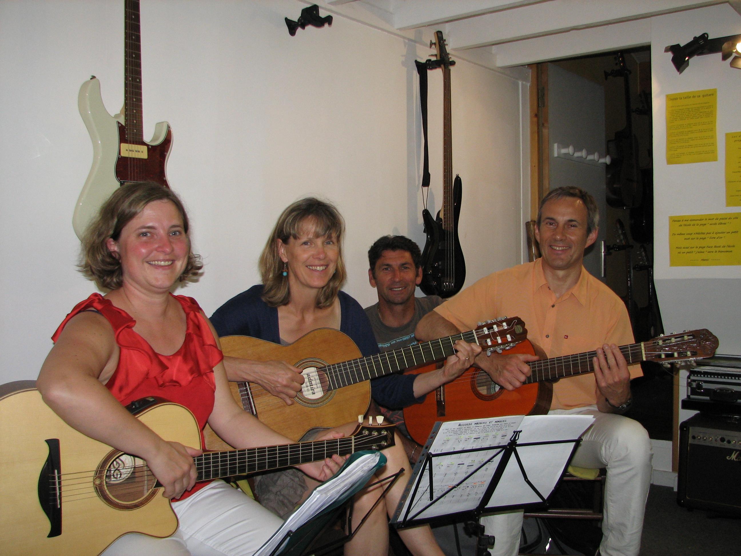 Anne, Brigitte, Pascal et Ronan