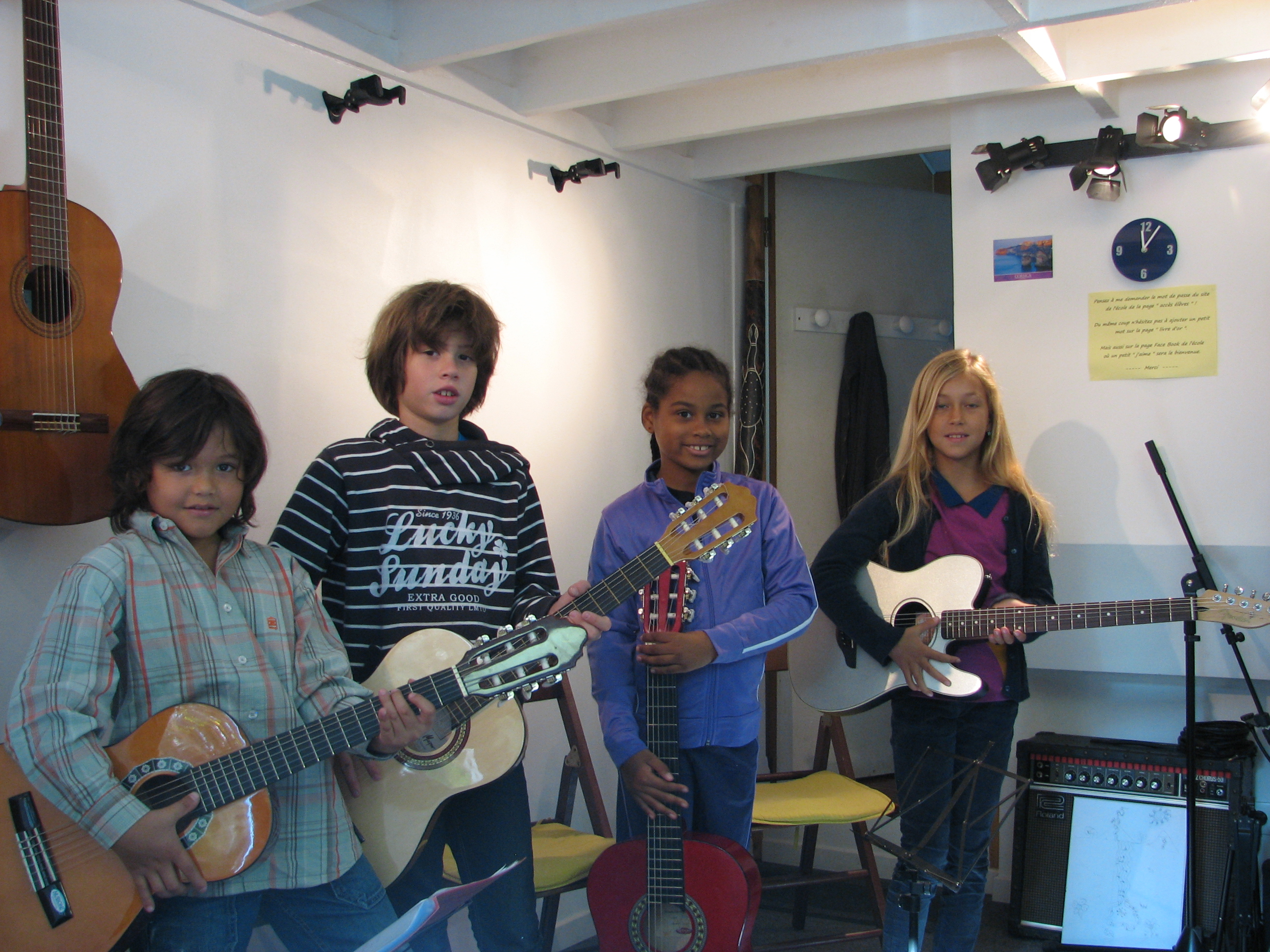 Tao, Maxime, Océane et Fanny