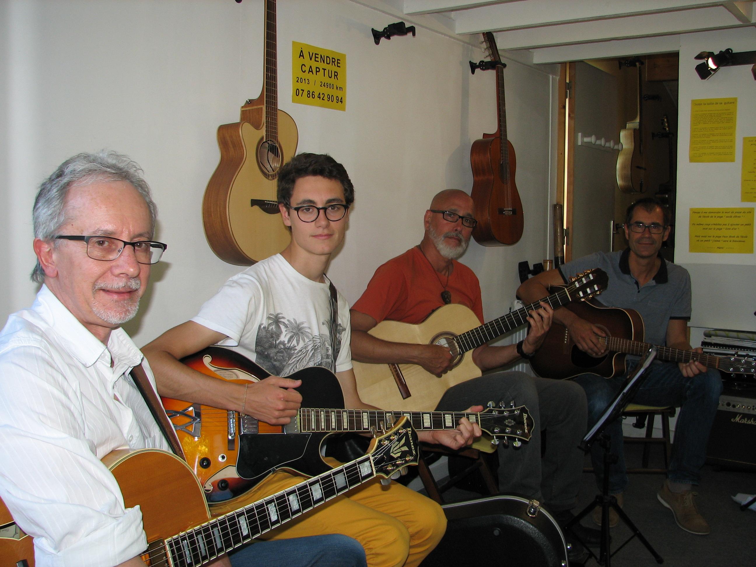 Denis, Quentin, Philippe et Laurent.