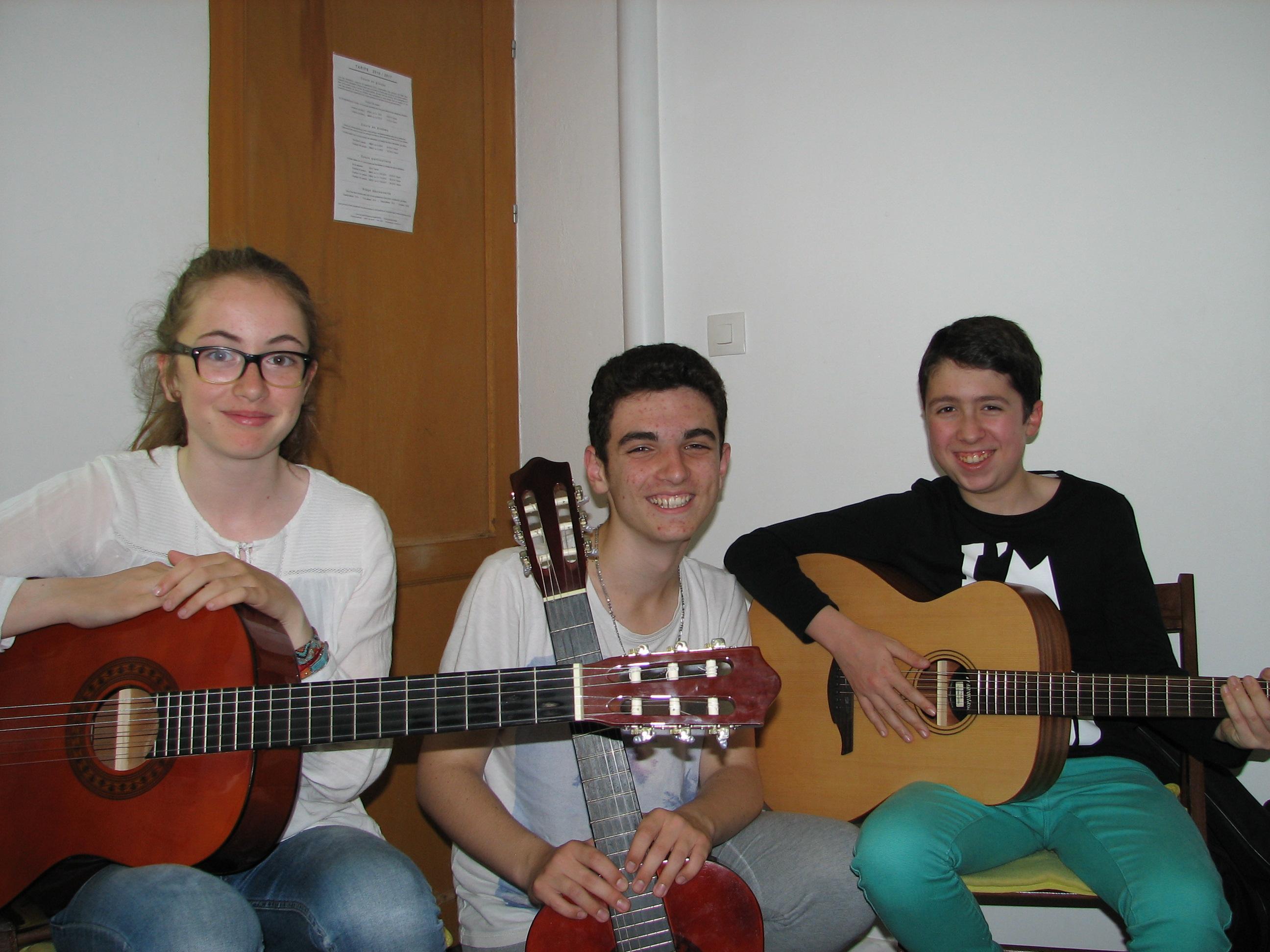 Caroline, Andoni et Matthias.