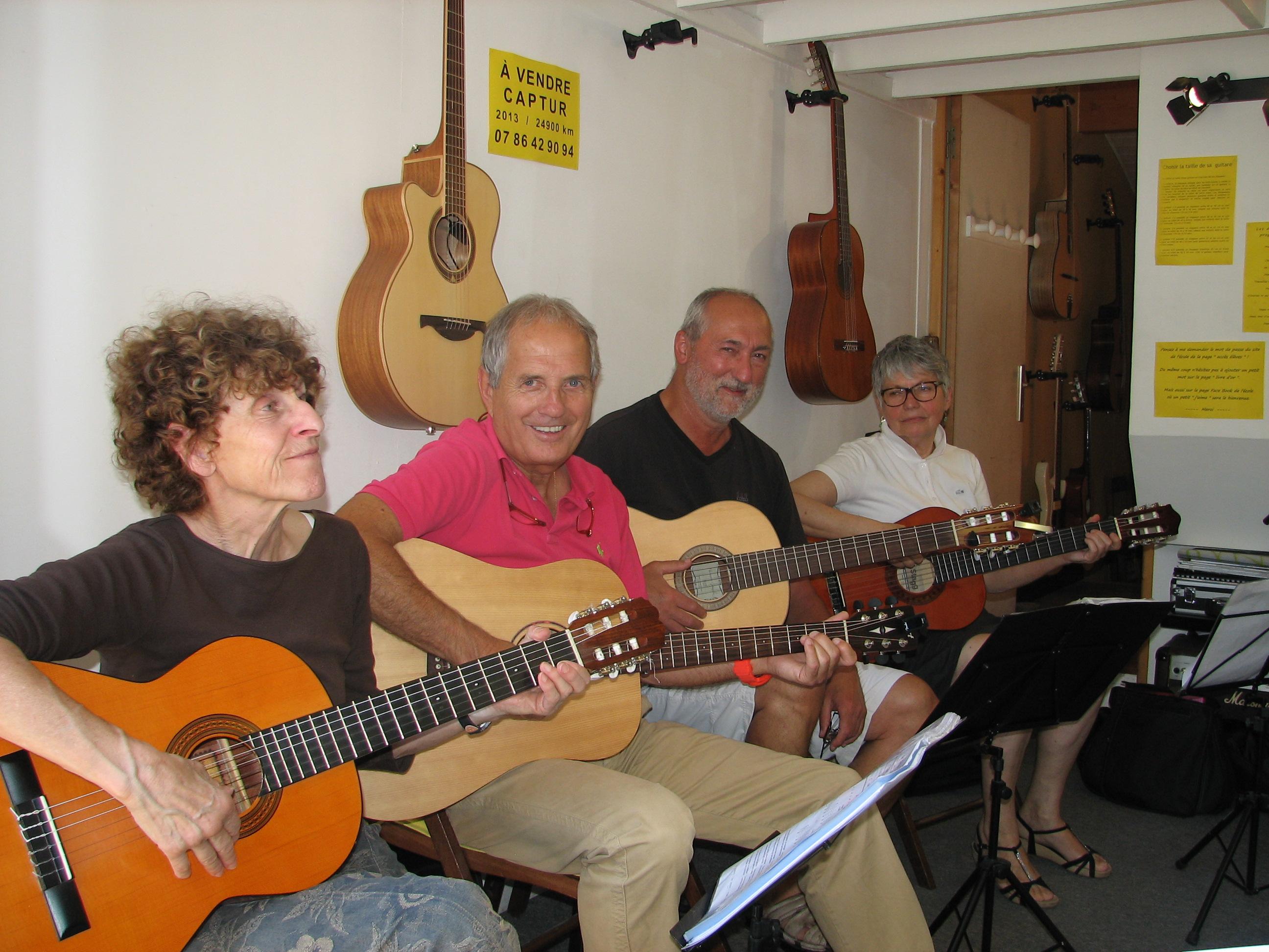 Marinette, Jean, Jean-Pierre et Danièle