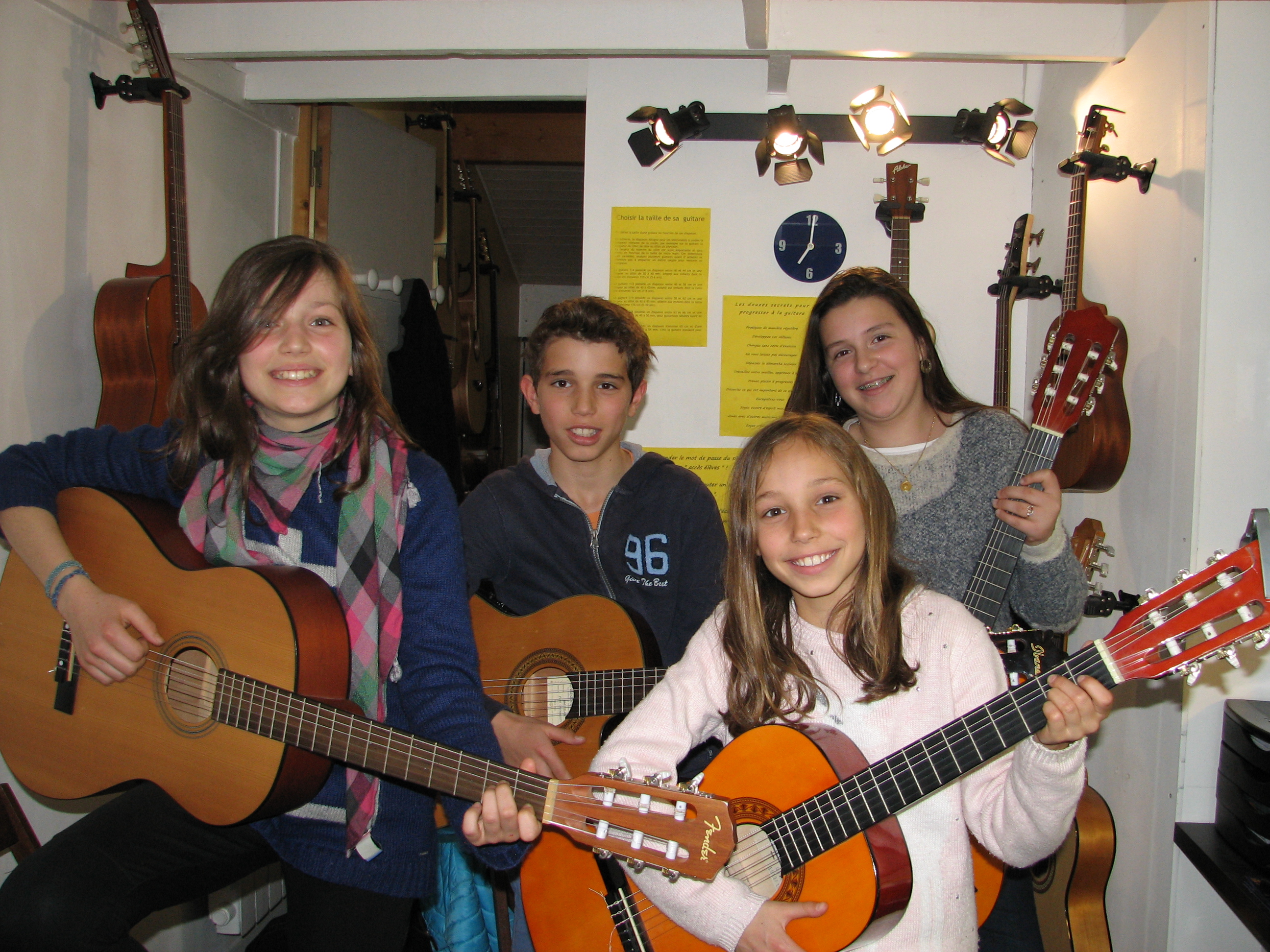 Juliette, Gabin, Louise et Margaux