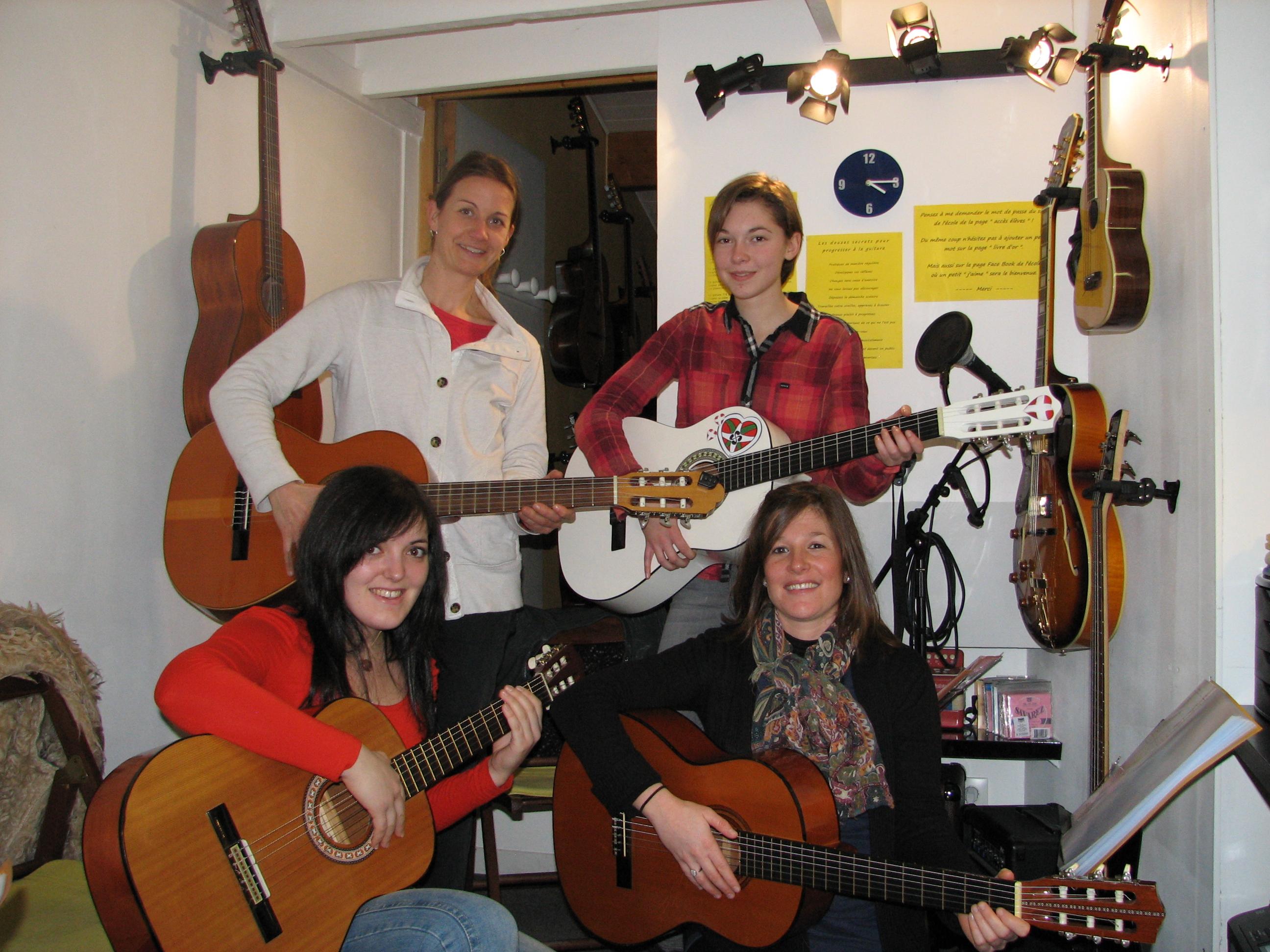 Pauline, Diane, Aurélie et Angélique.