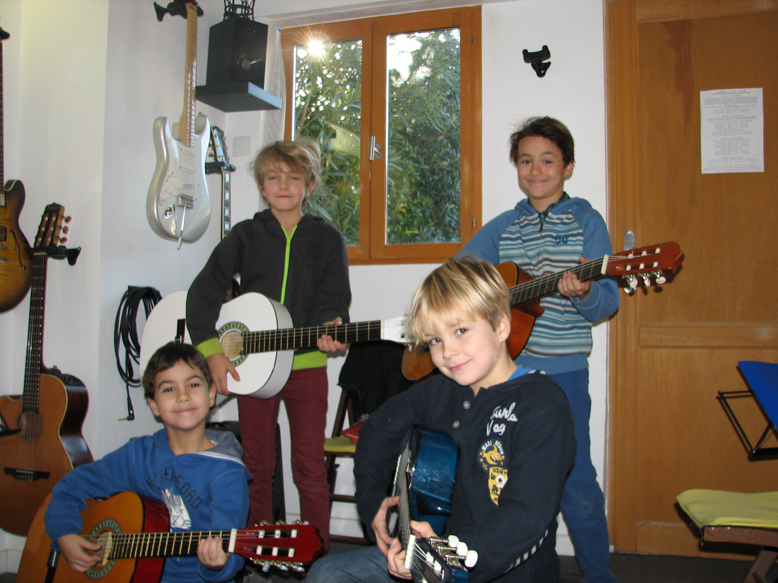 Benjamin, Oihan, Léo et Oscar