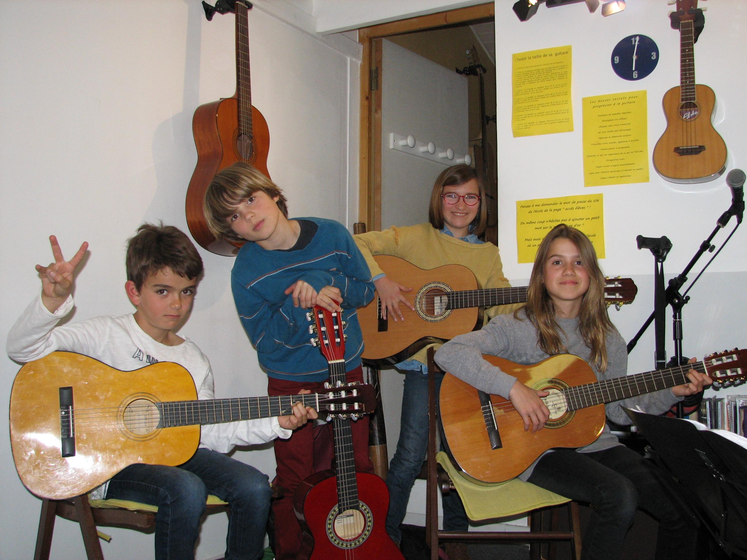 Bruno, Noah, Clara et Lena.