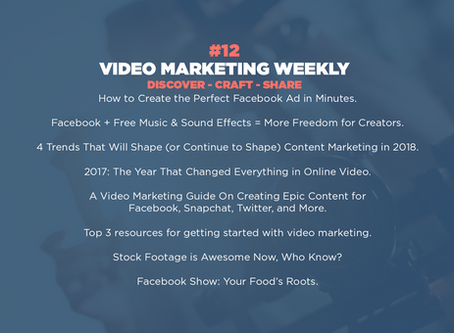 Video Marketing Weekly | Issue #12