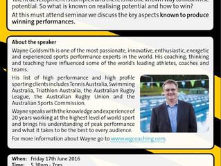 Developing talent - Wayne Goldsmith workshop