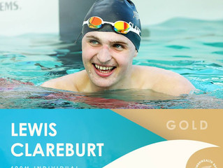 GOLD for Lewis Clareburt & Chelsey Edwards