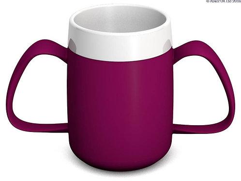 Ornamin Two Handled Mug + internal cone - 200ml - Blackberry/White