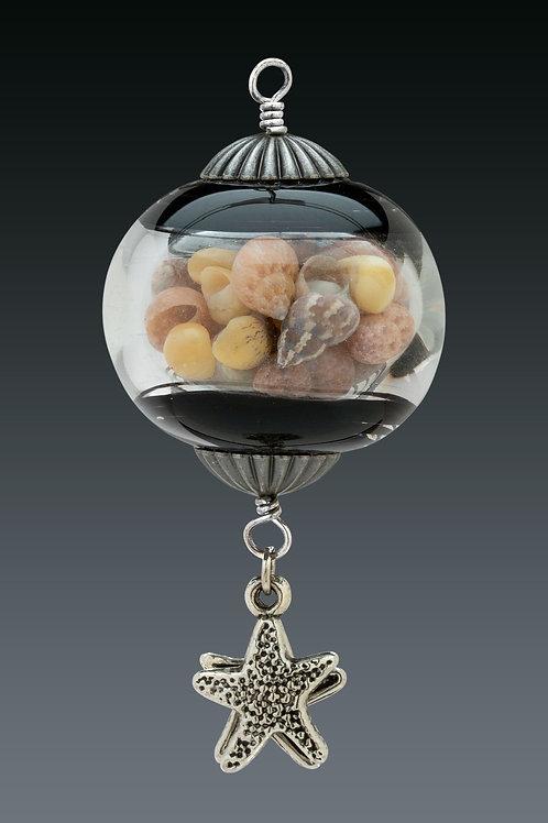Black Swirl Miniature Ornament