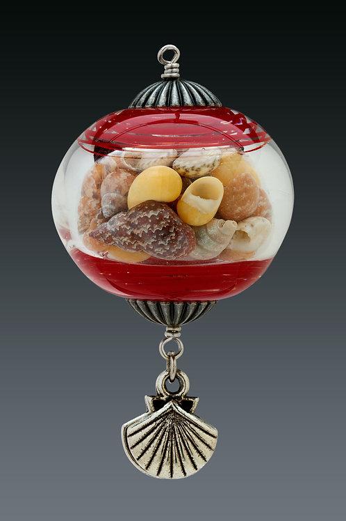 Red Swirl Miniature Ornament