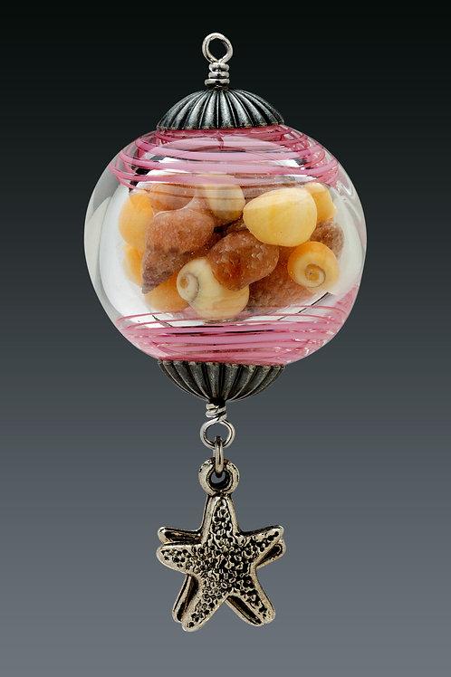 Pink Swirl Miniature Ornament