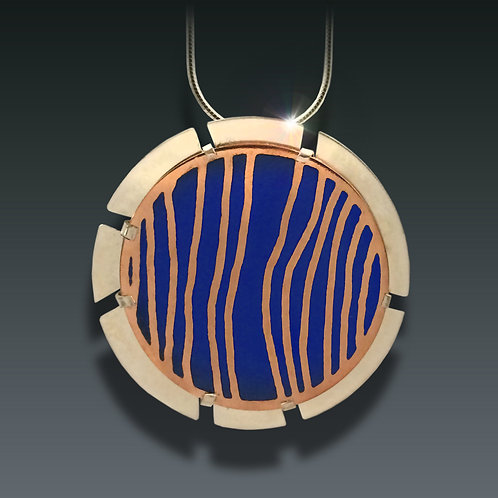 Creekbed in Blue Necklace